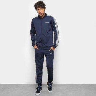 59b070948 Conjunto Agasalho Adidas Detalhe Bordado Masculino
