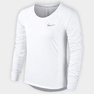 Camiseta Nike Dri-Fit Miler Top Manga Longa Feminina 1cbff5adff758