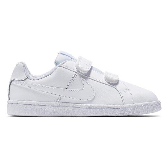 15de01ec818 Tênis Nike Court Royale Infantil - Branco - Compre Agora