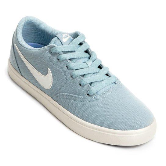 Tênis Nike Wmns Sb Check Solar Cnvs Feminino - Azul Claro - Compre ... c0f5933dfd329