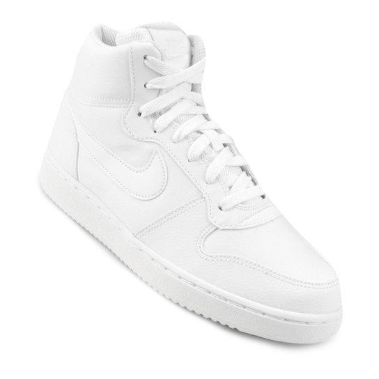 f3e16d0ffd9ad Tênis Cano Alto Nike Ebernon Mid Feminino - Branco - Compre Agora ...