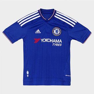 Camisa Adidas Chelsea Home 15 16 s nº Infantil 73b64082631