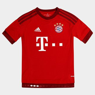 Camisa Bayern de Munique Infantil Home 15 16 s nº - Torcedor Adidas 91e6c9c283a19