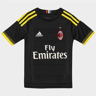 094258ebbd3 Camisa Milan Infantil Third 15 16 s nº Torcedor Adidas