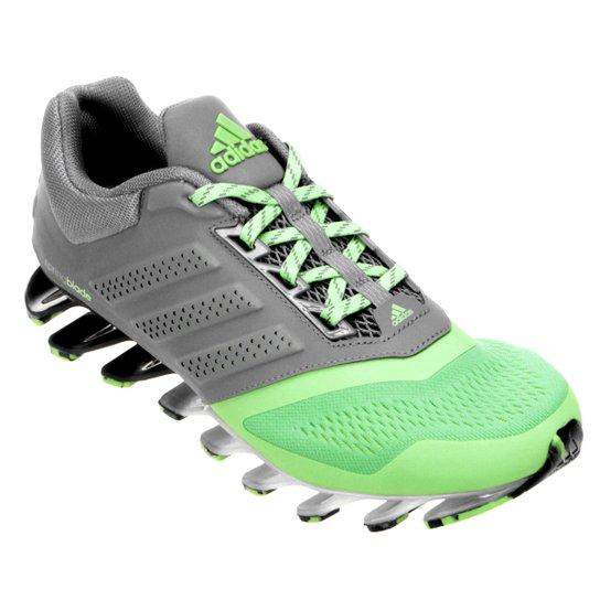 65d93e1b0 Tênis Adidas Springblade Drive 2 Masculino - Cinza+Verde Limão