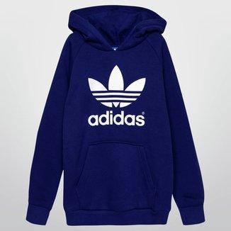 ed57935abd4 Moletom Adidas J Adi Trefoil Hoodie c  Capuz Infantil