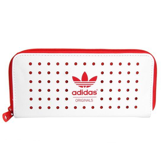 d96075528 Carteira Adidas Originals Tennis Ori Feminina - Branco+Vermelho