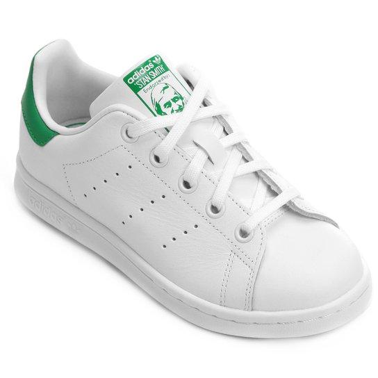 wholesale dealer 45052 beac6 Tênis Adidas Stan Smith El C Infantil - Branco+Verde