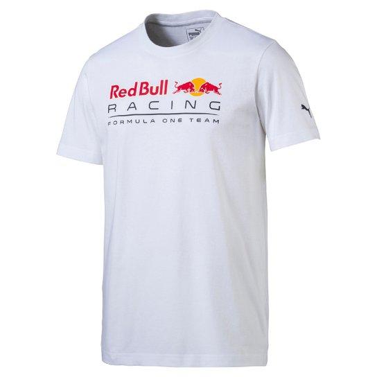 Camiseta Puma Logo Red Bull Racing Masculina - Branco - Compre Agora ... d389f995848