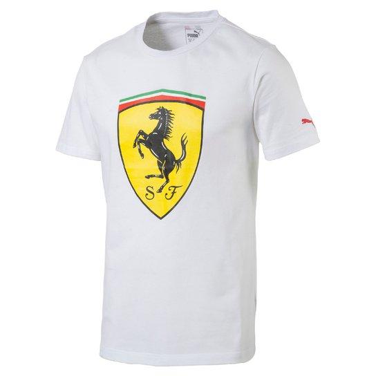 567ef1cd6a Camiseta Puma Scuderia Ferrari Big Shield Masculina - Compre Agora ...