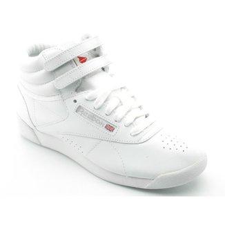 c4a7a27ad87 Tênis Reebok Freestyle Hi Branco 2431
