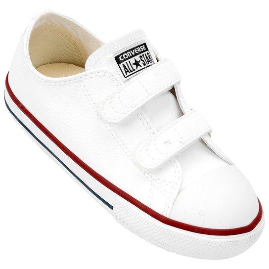 584cea85465 Tênis Infantil Converse Chuck Taylor All Star 2 Velcros Baby - Branco