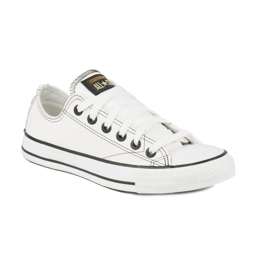 d5c09820ef6 Tenis Converse All Star Ct European Ox Branco Preto Branco - Compre ...