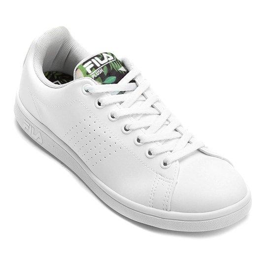 Tênis Fila Field Feminino - Branco e Verde - Compre Agora  65c521fd0b16c