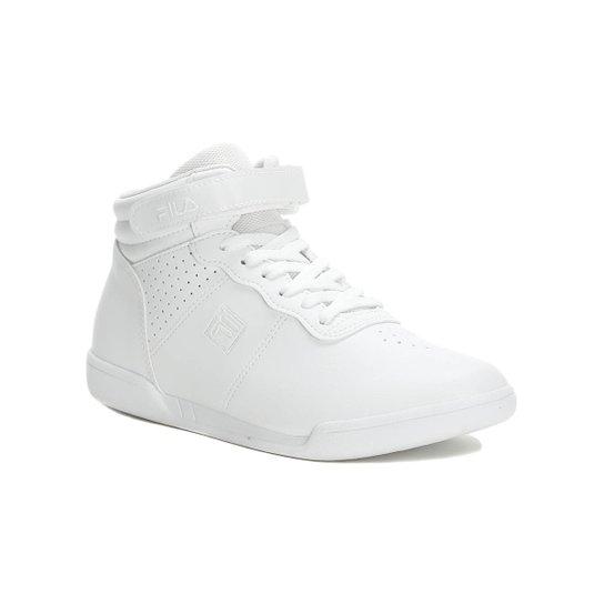 5c9f0ac6fd5 Tênis Casual Cano Alto Feminino Fila Branco - Branco - Compre Agora ...