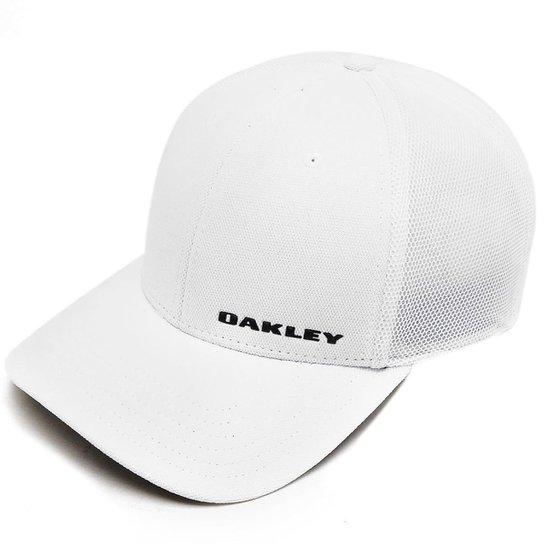 Boné Oakley Silicon Bark Trucker 4.0 Masculino - Branco - Compre ... f270717d5633f
