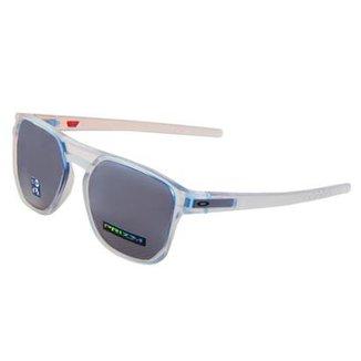 8575bd6a56 Óculos Oakley Latch Beta Matte Clear/ Lente Prizm Black Iridium