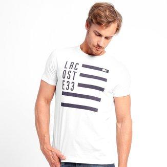 22209d80a0 Camiseta Lacoste Regular Fit Estampada