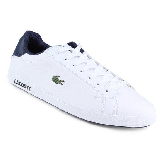 5c17d1f14dc Tênis Couro Lacoste Gradt Lcr3 Bkbk Masculino - Branco - Compre ...