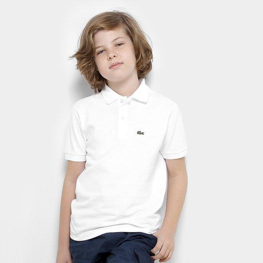 Camisa Polo Infantil Lacoste Masculina - Branco - Compre Agora  2baa340b74e5b