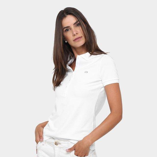 Camisa Polo Lacoste Logo Feminina - Compre Agora  c147f525aa0