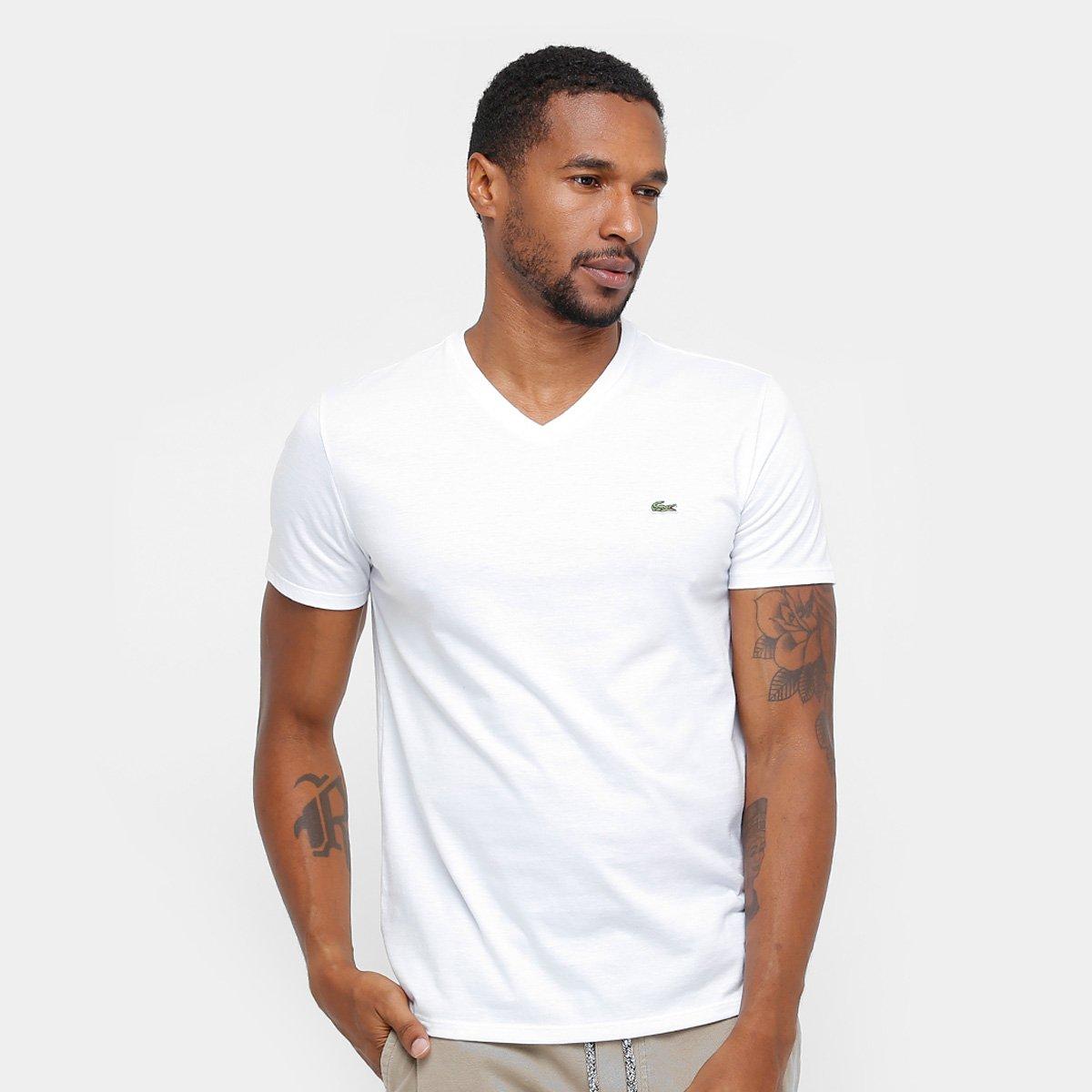 0c88a36359 Camiseta Lacoste Gola V Regular Fit Masculina