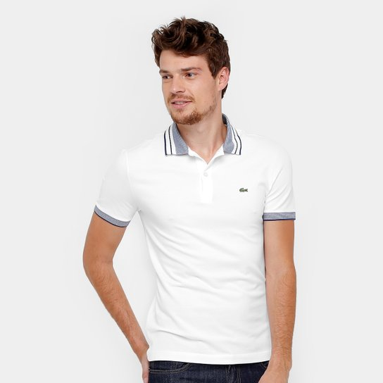 Camisa Polo Lacoste Piquet Slim Fit Frisos Masculina - Compre Agora ... 4c2cb8c94d0aa
