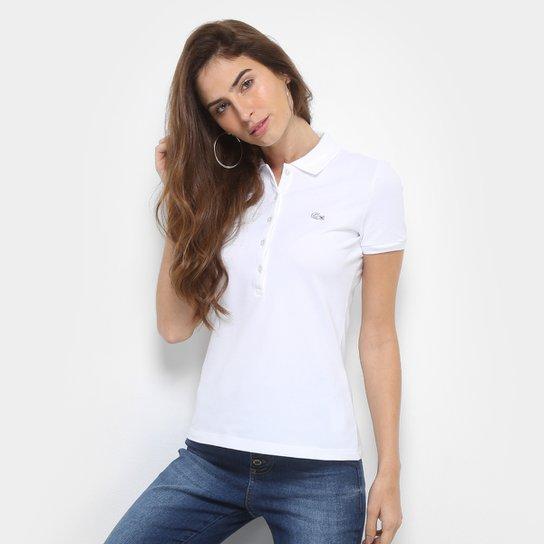 Camisa Polo Lacoste Manga Curta Botões Feminina - Compre Agora   Zattini ae3431e194