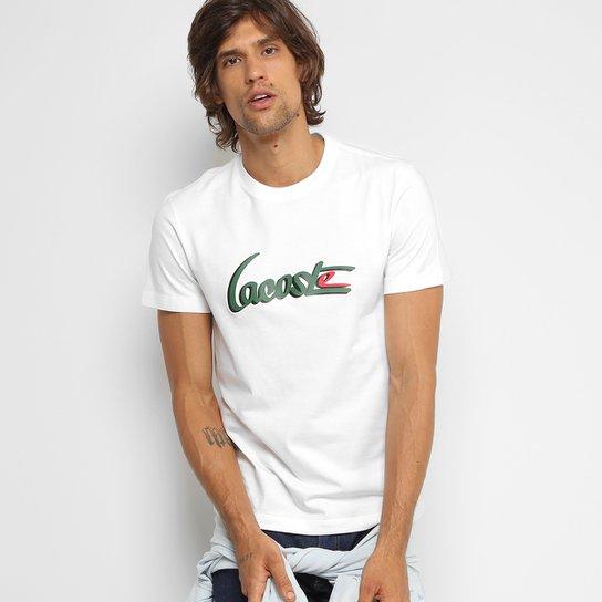 b4946c908f8 Camiseta Lacoste Gola Careca New Logo Masculina - Compre Agora
