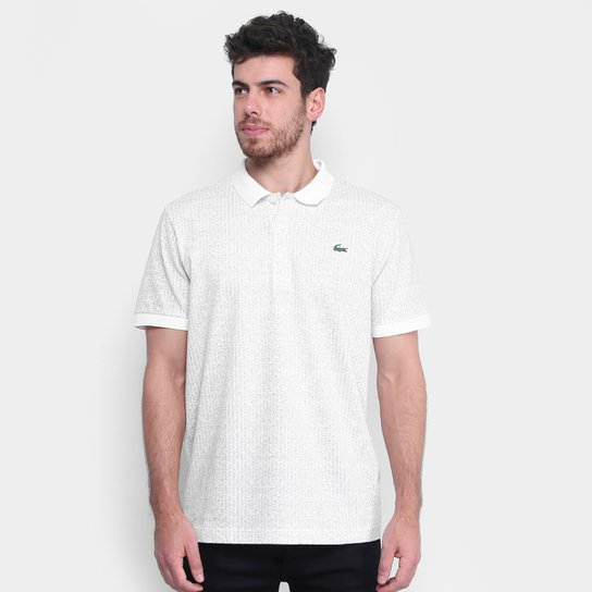 87cdf4959b3c4 Camisa Polo Lacoste Texturizada Masculina - Branco - Compre Agora ...