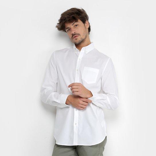 1435e9a84 Camisa Lacoste Manga Longa Masculina - Branco - Compre Agora