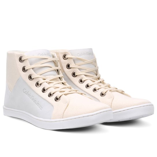 Sapatênis Couro Calvin Klein Basic Hi Masculino - Compre Agora   Zattini c1ded50264