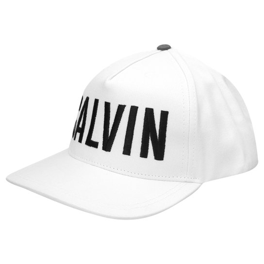Boné Calvin Klein Logo Bordado - Compre Agora  4a827fadd5b