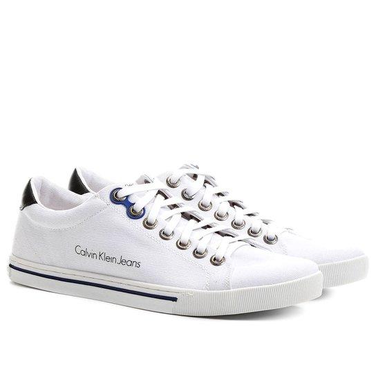 Sapatênis Calvin Klein Lona Friso - Compre Agora   Zattini cc63965da3
