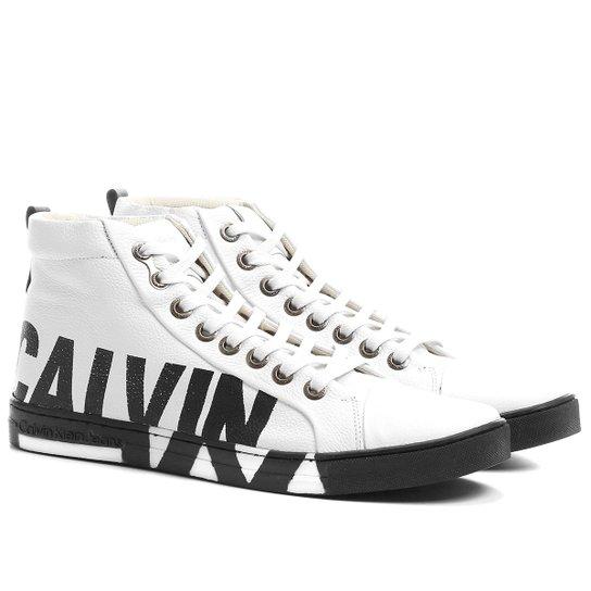 Sapatênis Couro Calvin Klein Alto Logo Sola Masculino - Compre Agora ... 6fb8922e7a