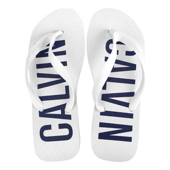 bd90650cf8d0c Chinelo Calvin Klein Logo Masculino - Compre Agora