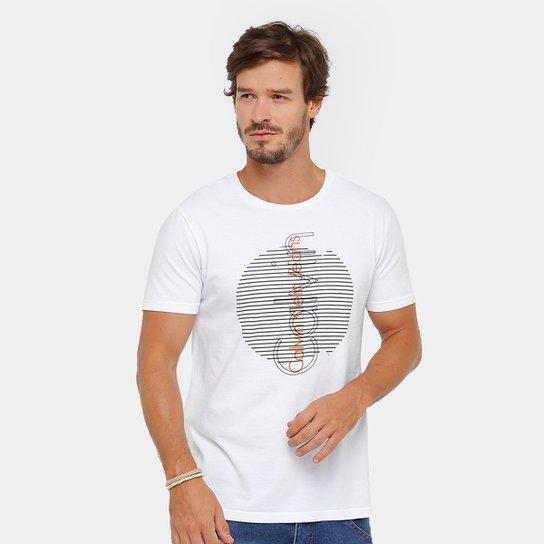 e61d86a5b39b7 Camiseta Calvin Klein Logo Masculina - Compre Agora   Zattini