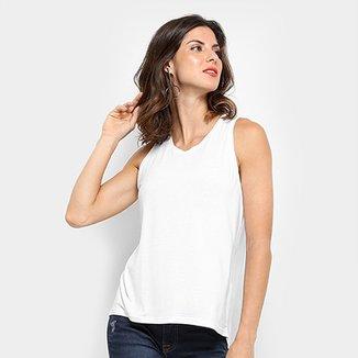 20770a0a87 Regata Colcci Maxi Lurex Estampada Feminina · Confira · Regata Calvin Klein  Estampa nas Costas Feminina