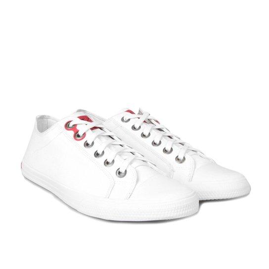 4780aaf4842c5 Sapatênis Calvin Klein Lona CK Masculino - Branco - Compre Agora ...