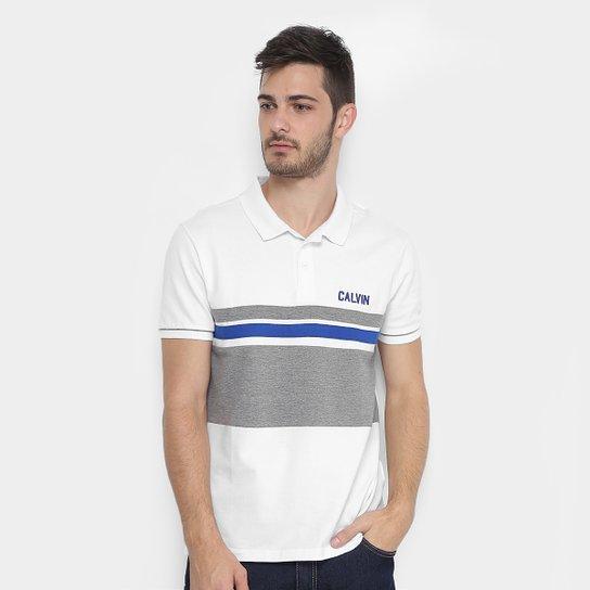 fb144947aa Camisa Polo Calvin Klein Piquet Recorte Masculina - Compre Agora ...