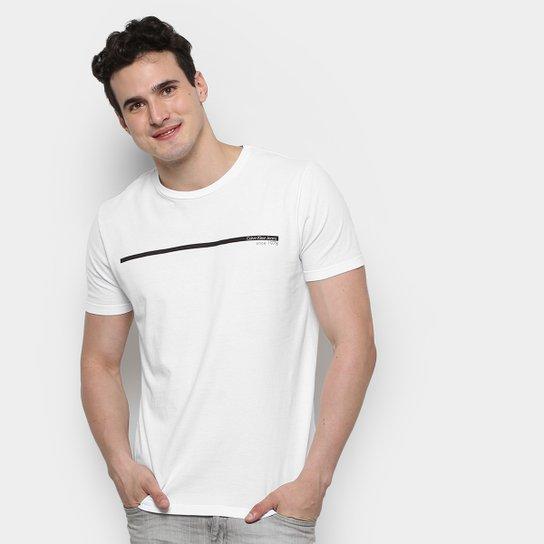 6492694b1 Camiseta Calvin Klein Estampa Logo Palito Masculina - Compre Agora ...