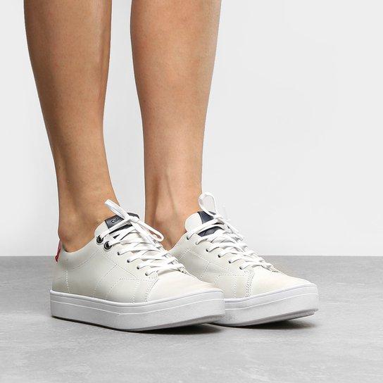 cee50a3bec2 Tênis Couro Calvin Klein Flatform Feminino - Compre Agora