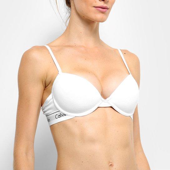 fbd615e934 Sutiã Calvin Klein Com Bojo Push-Up - Branco - Compre Agora