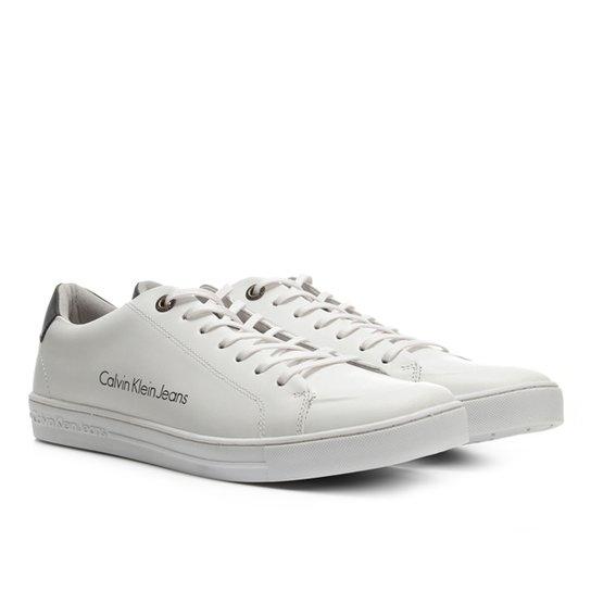Sapatênis Couro Calvin Klein Masculino - Branco - Compre Agora   Zattini 50d46a5c66