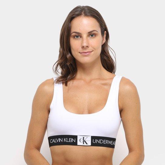 e045bef974 Top Calvin Klein Cotton - Branco - Compre Agora