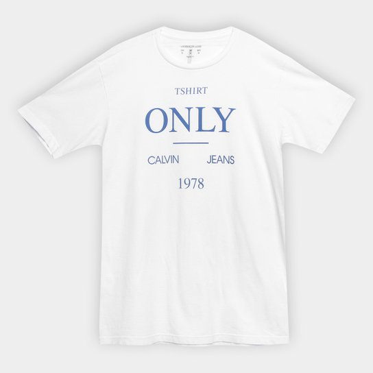 Camiseta Infantil Calvin Klein T-Shirt Only Masculina - Branco ... 52d08f90e3e