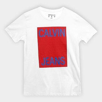 Camiseta Infantil Calvin Klein Estampa Logo Masculina 528f16ba31