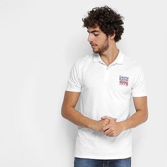 Camisa Polo Calvin Klein Piquet Estampada Masculina 8573eb7b1df1e