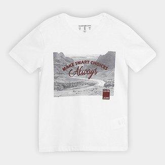 58f859788 Camiseta Infantil Calvin Klein Foto Escritos Masculina