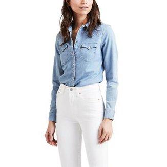 Camisa Jeans Levis Tailored Classic Western Lavagem Clara b2c403b3af1